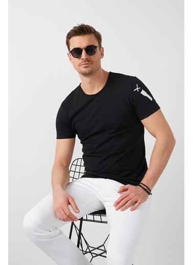 Buratti Buratti Bisiklet Yaka Erkek T-Shirt 5902279 Siyah